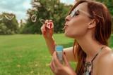 soapbubbles girl - 163446256