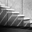 Concrete stairs with shadow pattern. 3d render