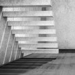 3d interior background with empty concrete stairs