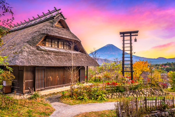 Village and Mt. Fuji, Japan. © SeanPavonePhoto