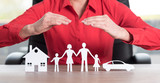 Concept of home, family and car insurance