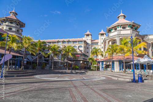 Plagát port louis waterfront zentrum hauptstadt von mauritius