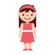 cute girl character icon vector illustration design - 163499804