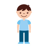 cute boy character icon vector illustration design