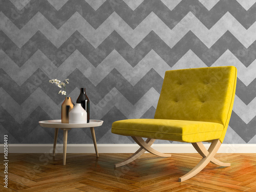 modern interior design 3d illustration - 163504493