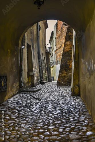 Zdjęcia na płótnie, fototapety na wymiar, obrazy na ścianę : ancient street in Lublin
