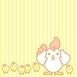 cute pastel chicken background