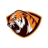 tiger lion animal wild mascot sport logo illustration vector
