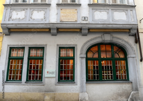 The house-Museum of composer Mozart on the street Domgasse of Vienna.