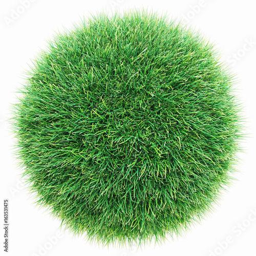 Prato verde, mondo fatto con l'erba