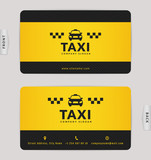 Business card for taxi company. - 163535821