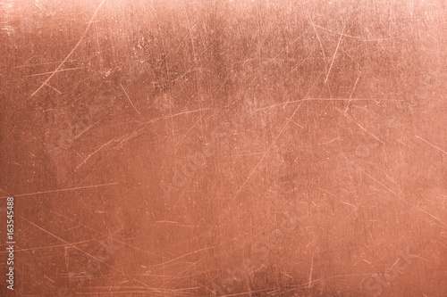Fototapeta old metal plate, brushed texture copper, bronze background