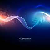 technology digital background in wavy futuristic style - 163547618