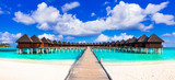 Maldives, luxury tropical holidays in water villas - 163557889