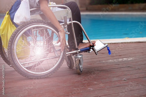 Wheelchairs are a travel tool of the disabled.