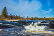 Waterfall drain on the Winnipeg River