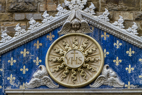 Detail of Palazzo Vecchio in Florence