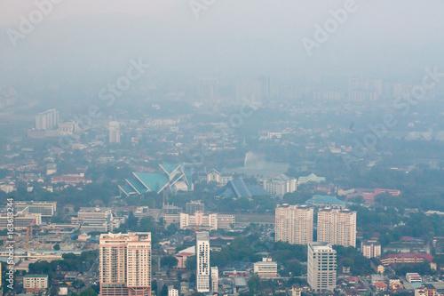 Poster Kuala Lumpur cityscape view, Malaysia