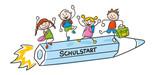 Fototapety Strichfiguren Strichmännchen Kinder bunt Schulstart Vektor