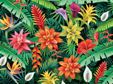 Background from tropical flowers - 163614899