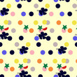 Seamless flower pattern with Color background - 163624898