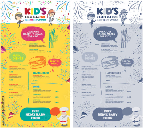 vector kids menu template buy photos ap images detailview