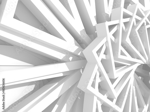 Abstract White Geometric Pattern Background © VERSUSstudio