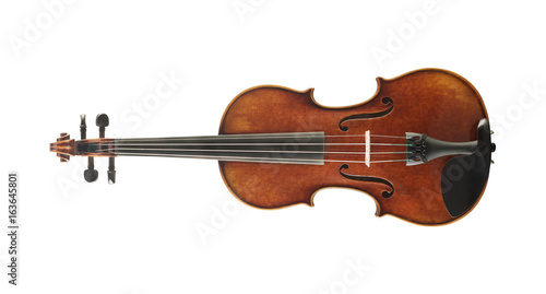 Cello isolated on white background - 163645801