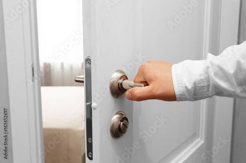 Man open the door Poster
