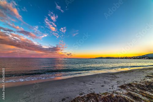 Foto op Canvas Zee zonsondergang Colorful sunset in Alghero shore