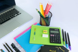 Office and Stationery Set and a Laptop