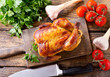 whole roasted chicken - 163663035