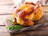 whole roasted chicken - 163663040