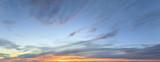 Sky panorama at twilight time - 163679483