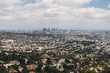 Picturesque city panorama of the modern city of Los Angeles