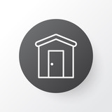 Barn Icon Symbol. Premium Quality Isolated Farmhouse Element In Trendy Style. - 163686696
