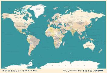 Vintage mapa świata