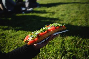 streetfood on grass