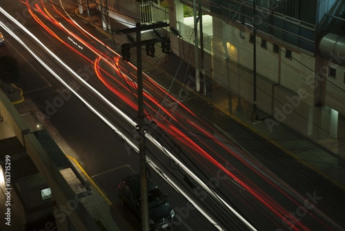 mexico city streets long exposure Poster