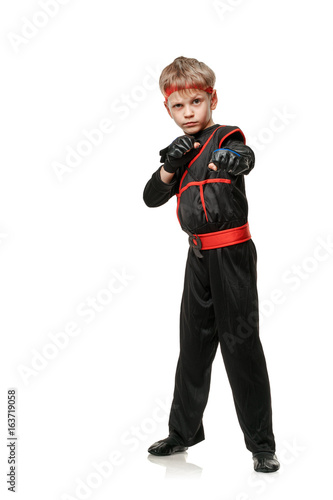 Martial boy fighter Poster