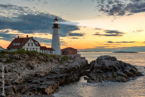 Sunrise at Portland Head Lighthouse, Cape Elizabeth, USA