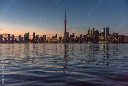 Toronto city skyline at sunset, Ontario, Canada
