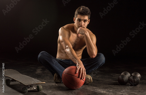 Young man in his 20s representing various recreational sports