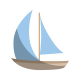 Sailboat ship isolated icon vector illustration graphic design - 163734063