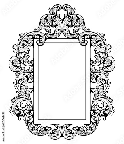 Vintage imperial baroque mirror frame vector french for Baroque mirror canada