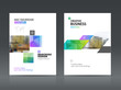 Abstract business Brochure design vector template in A4 size.  - 163748469