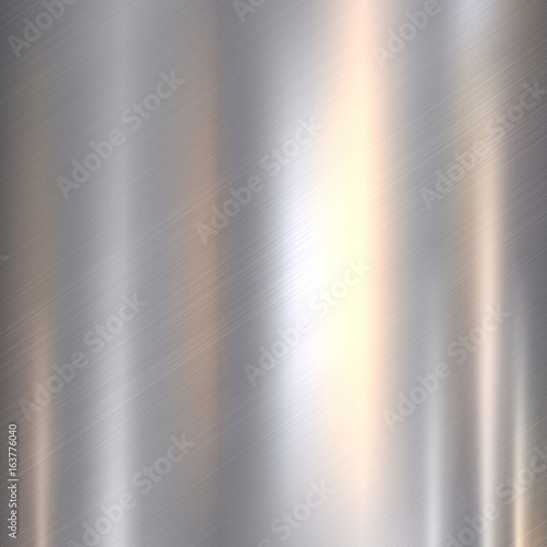 Plakat Metal, stainless steel texture background with reflection