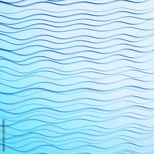 White texture. Wavy background. Interior wall decoration. 3D pattern. Abstract lines.