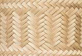 Bamboo texture.Bamboo fine basketry pattern of sticky rice container, close up.