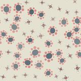 Hippie wallpaper with funny small flowers ditsy-like print - 163797209